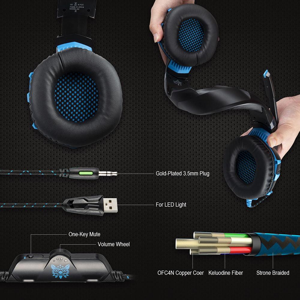 2019 onikuma k2a gaming headphone