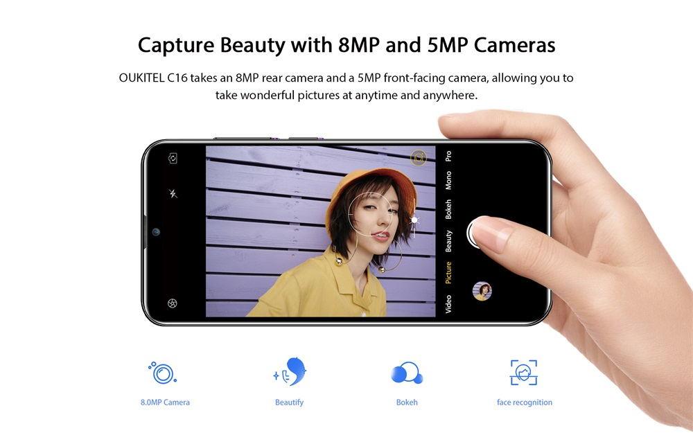 2019 oukitel c16 3g smartphone