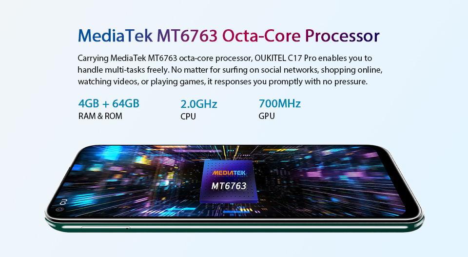 cheap oukitel c17 pro 4g smartphone