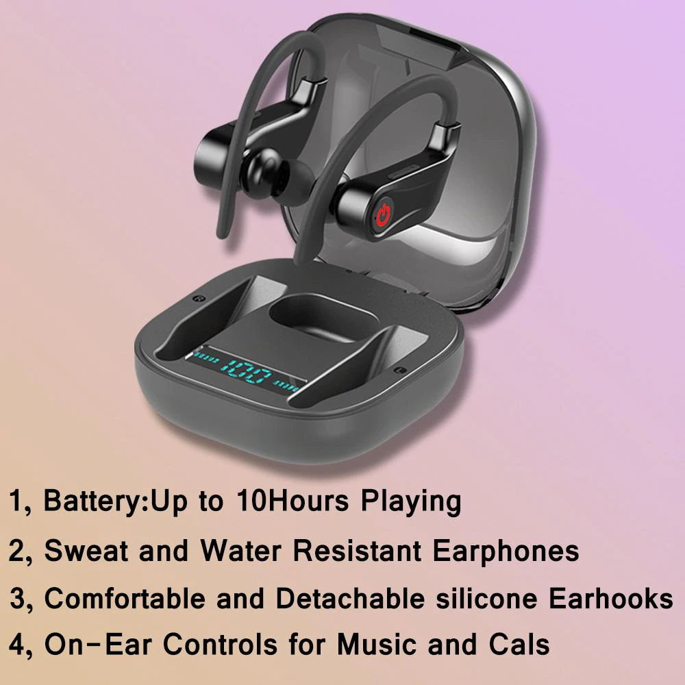 power hbq pro tws bluebooth earphones