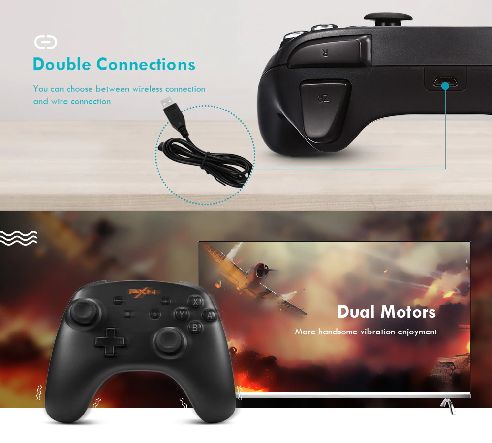 new pxn 9607 wireless gamepad game controller