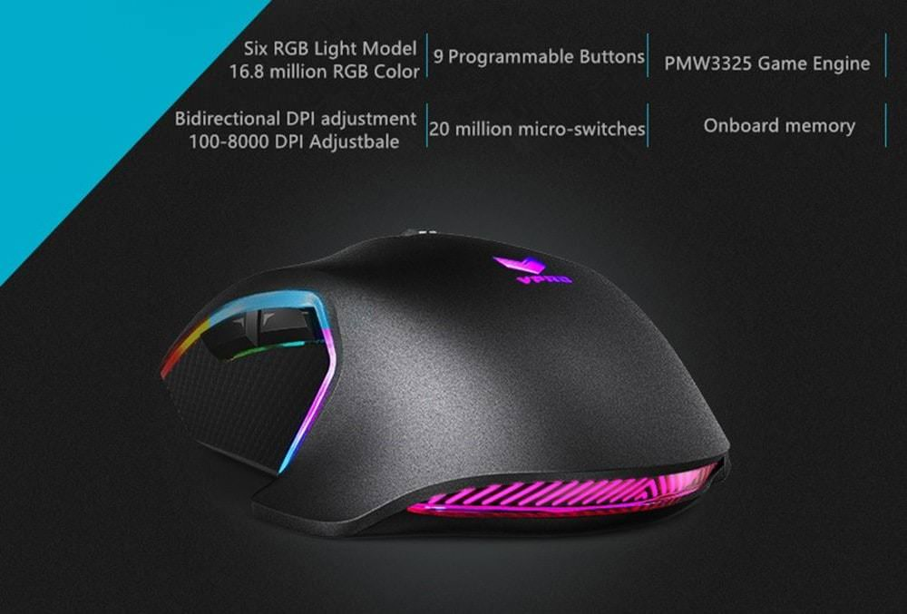 new rapoo v20pro gaming mouse