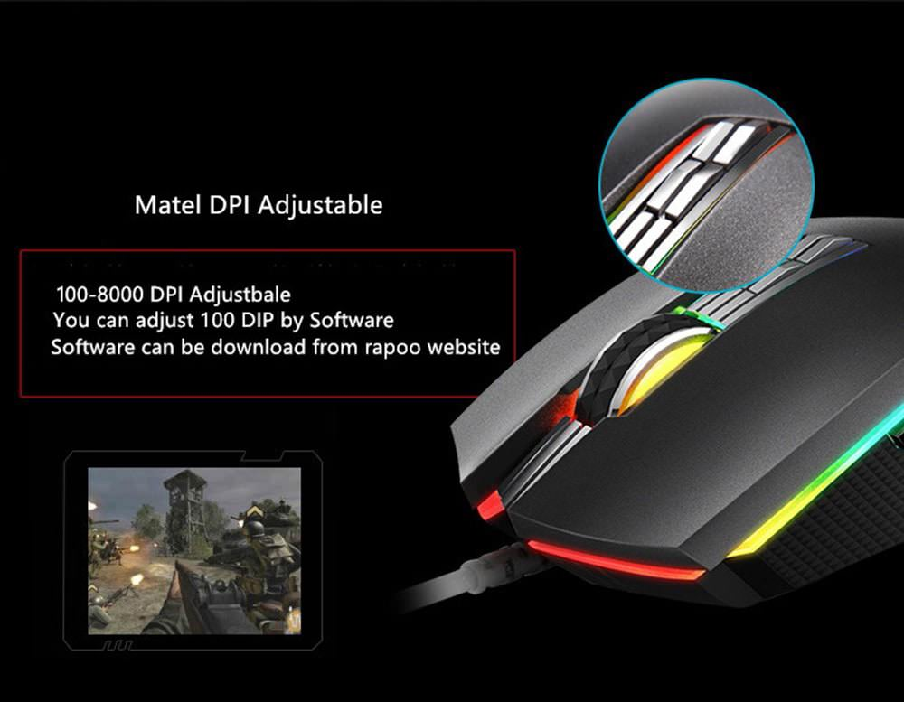 rapoo v20pro gaming mouse 2019