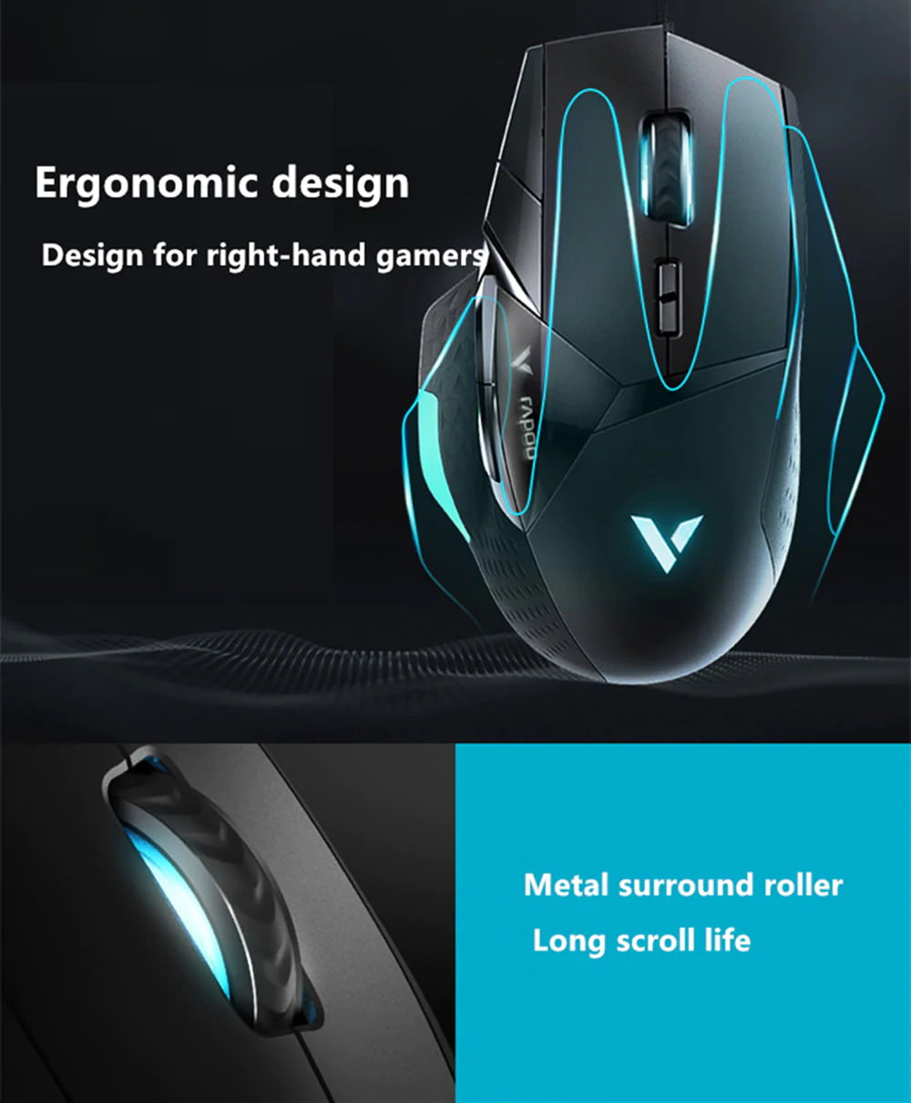 new rapoo vt900 e-sports gaming mouse