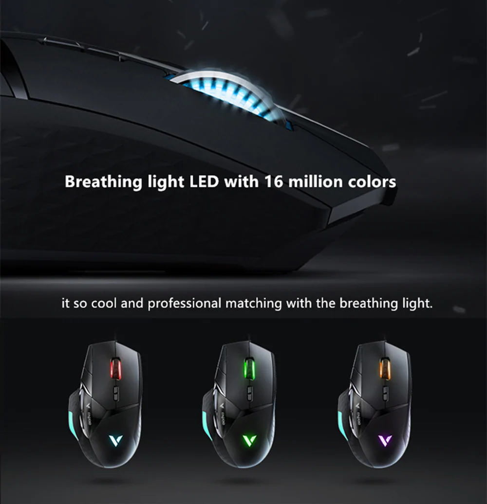2019 rapoo vt900 e-sports wired gaming mouse