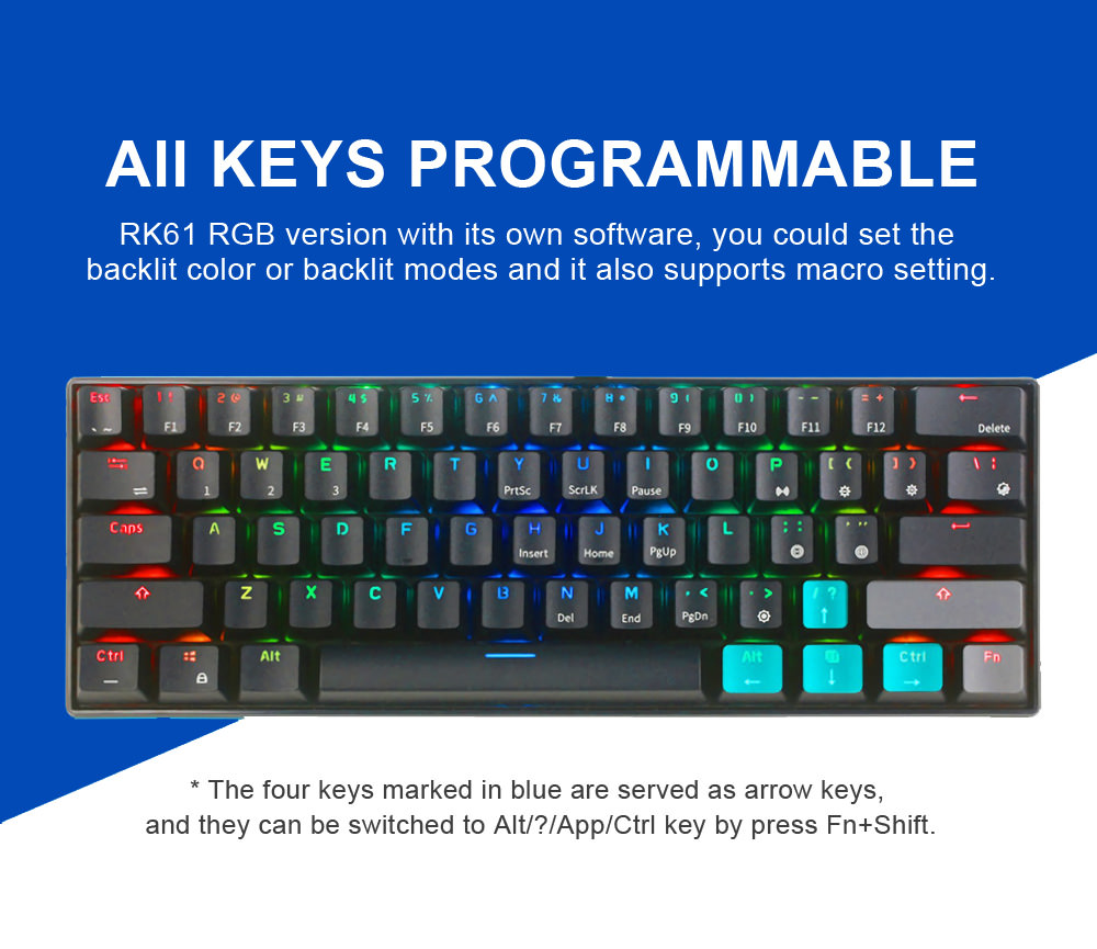 new royal kludge rk61 gaming keyboard