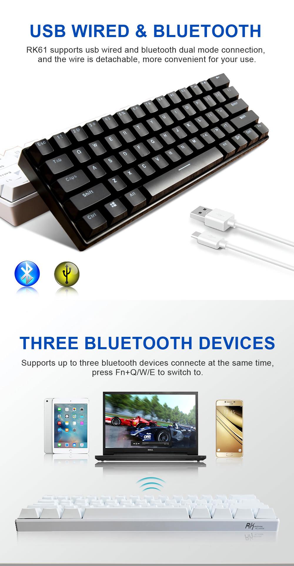 2019 royal kludge rk61 gaming keyboard