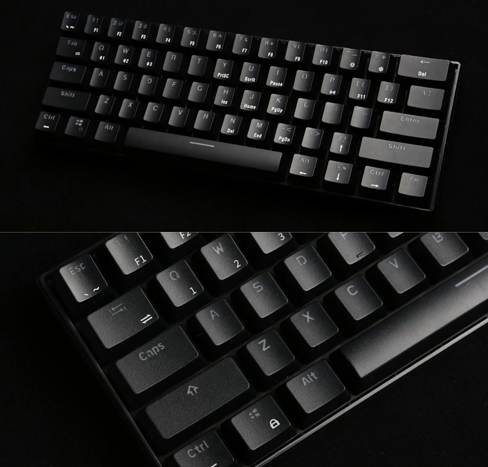 new royal kludge rk61 mechanical gaming keyboard