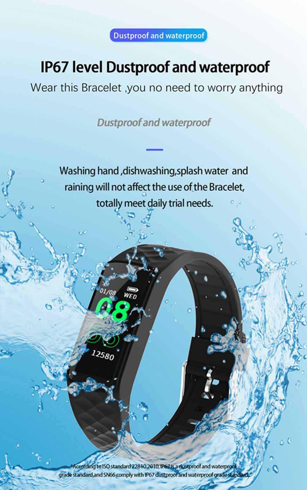 sn66 smart waterproof wristband for sale