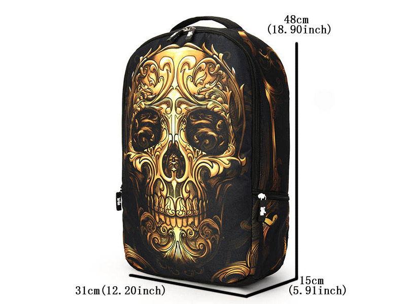 skull pattern 12l backpack