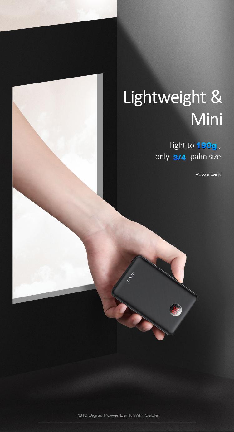 buy usams led digital power bank