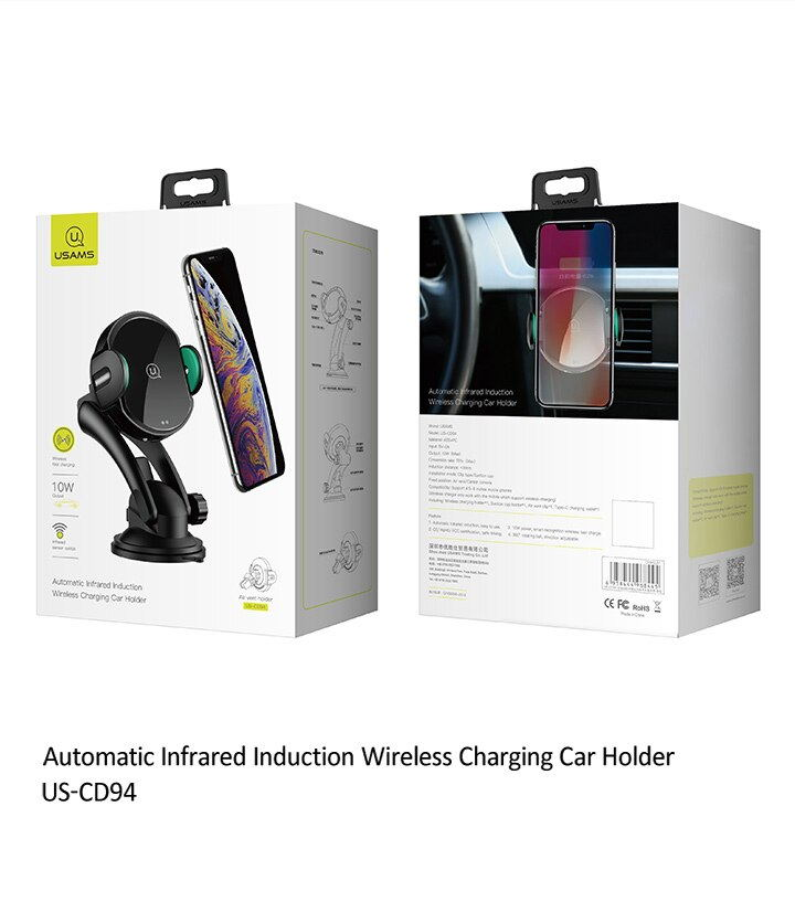usams us-cd94 wireless car charger for sale