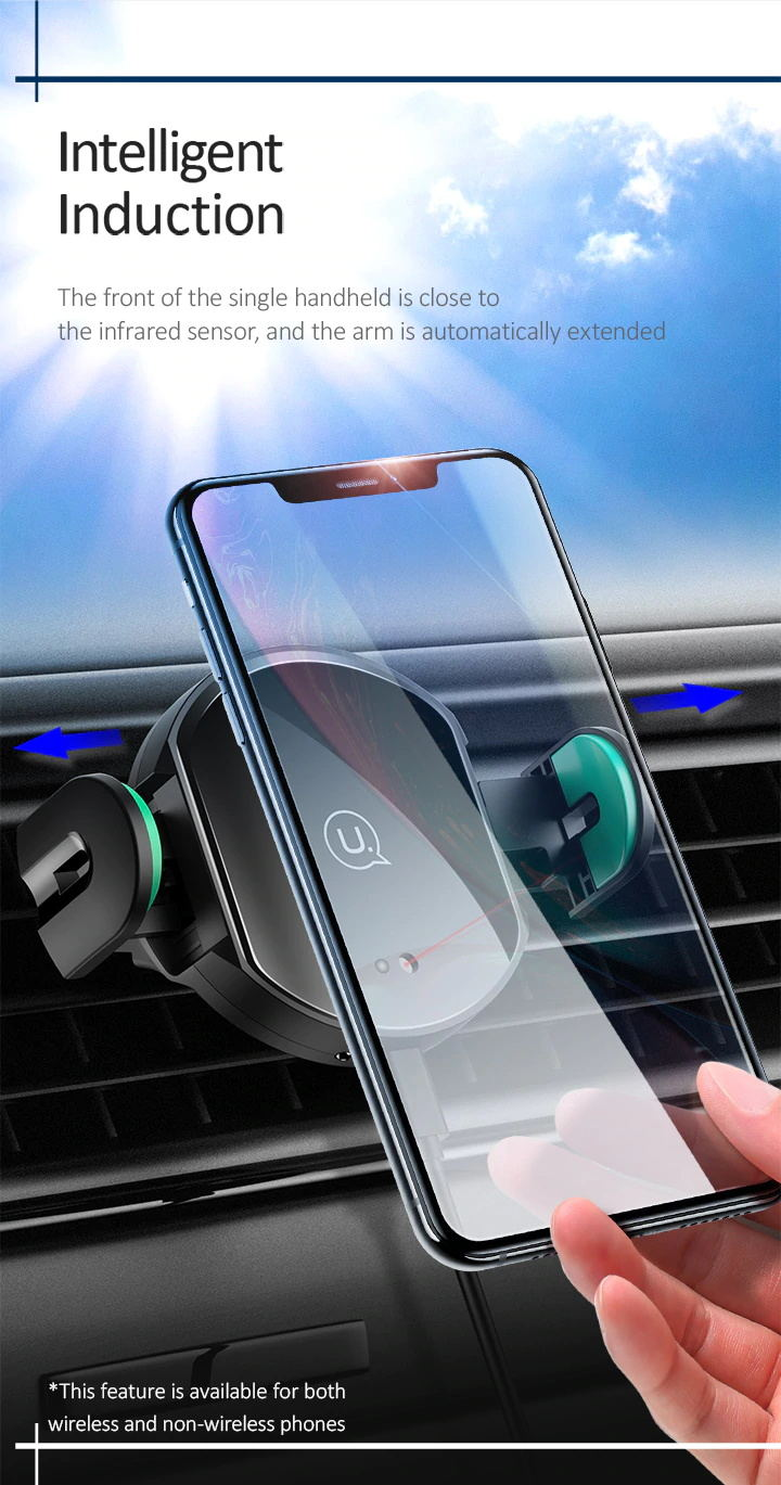 new usams wireless car charger