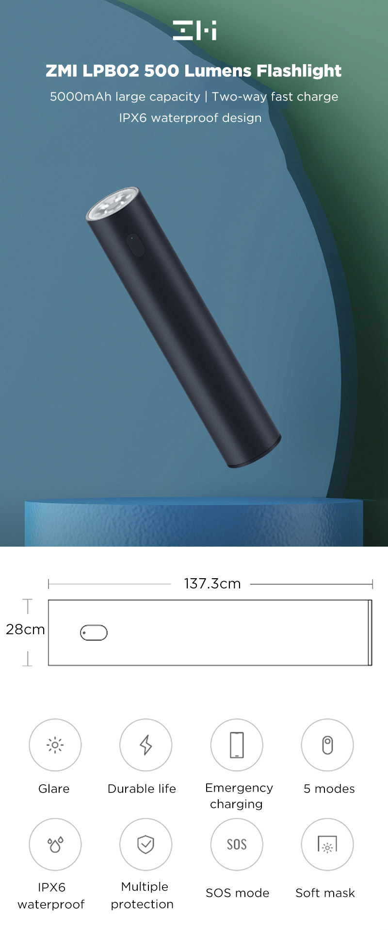 [Imagem: XIAOMI-ZMI-LPB02-5000mAh-Power-Bank-Flashlight-1.jpg]