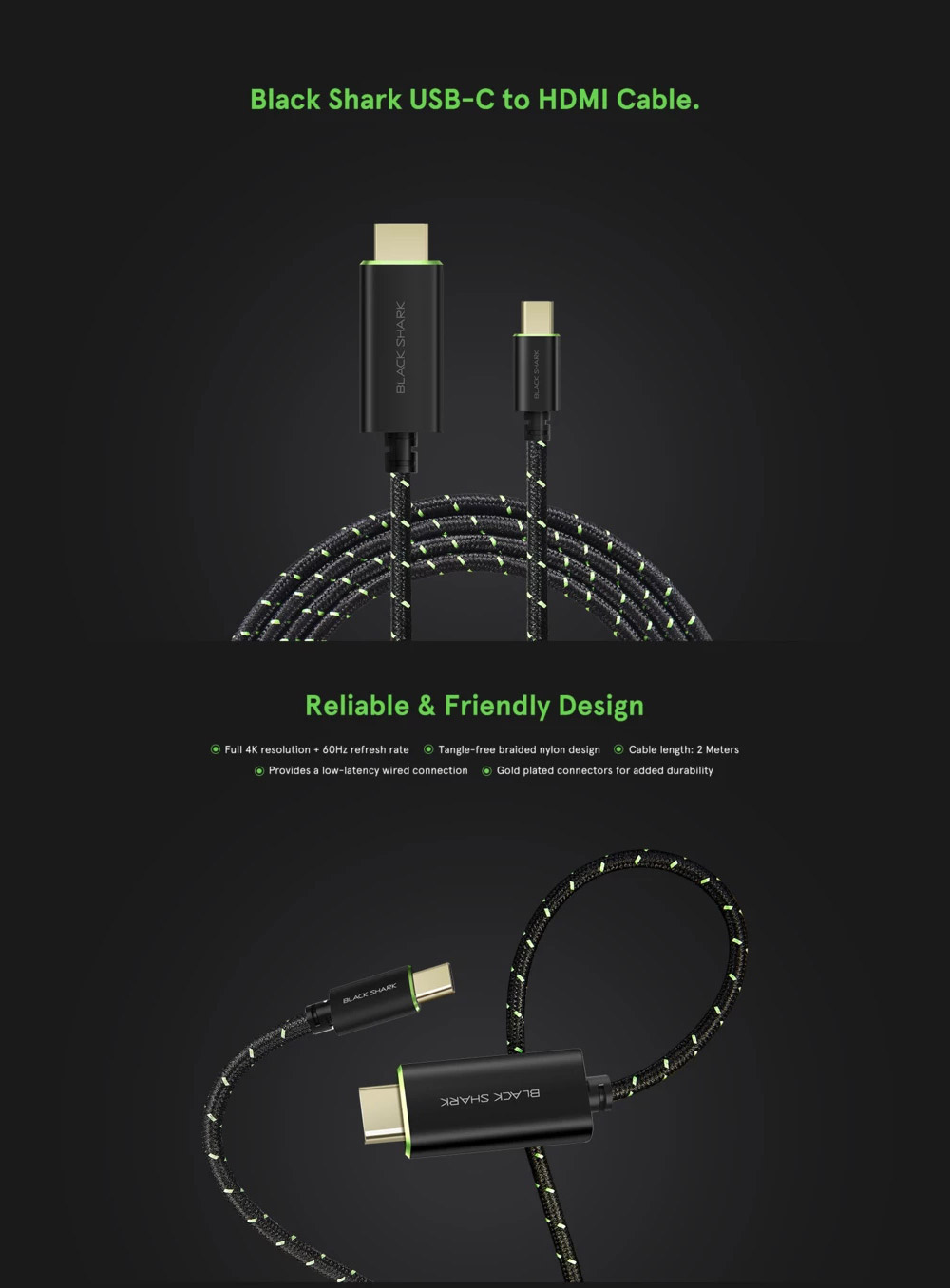 xiaomi black shark type-c to hdmi cable