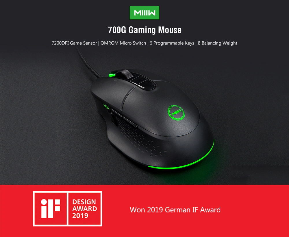 xiaomi miiiw 700g gaming mouse