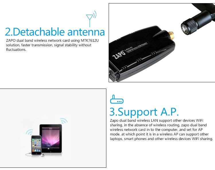 2019 ZAPO-W50-2DB-WiFi-USB-Antenna-Adapter