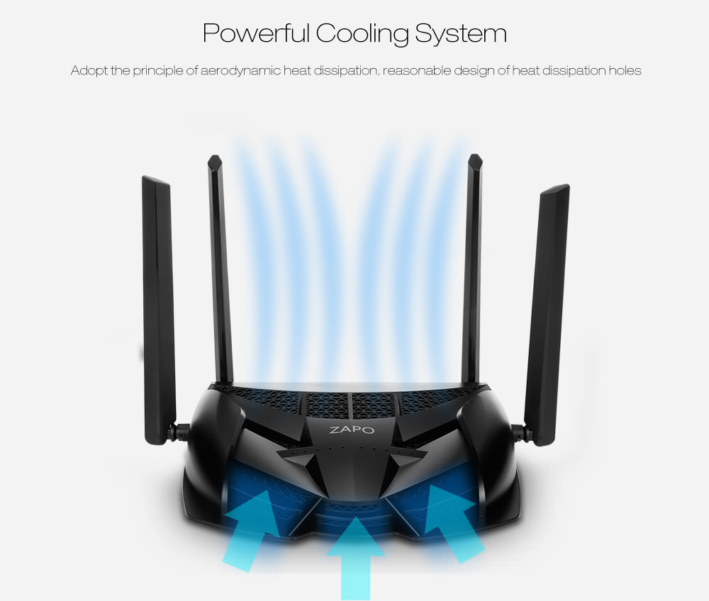 zapo z-1200 smart wireless game router