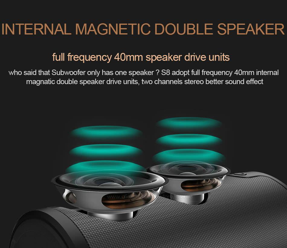 zealot s8 3d stereo bluetooth speaker