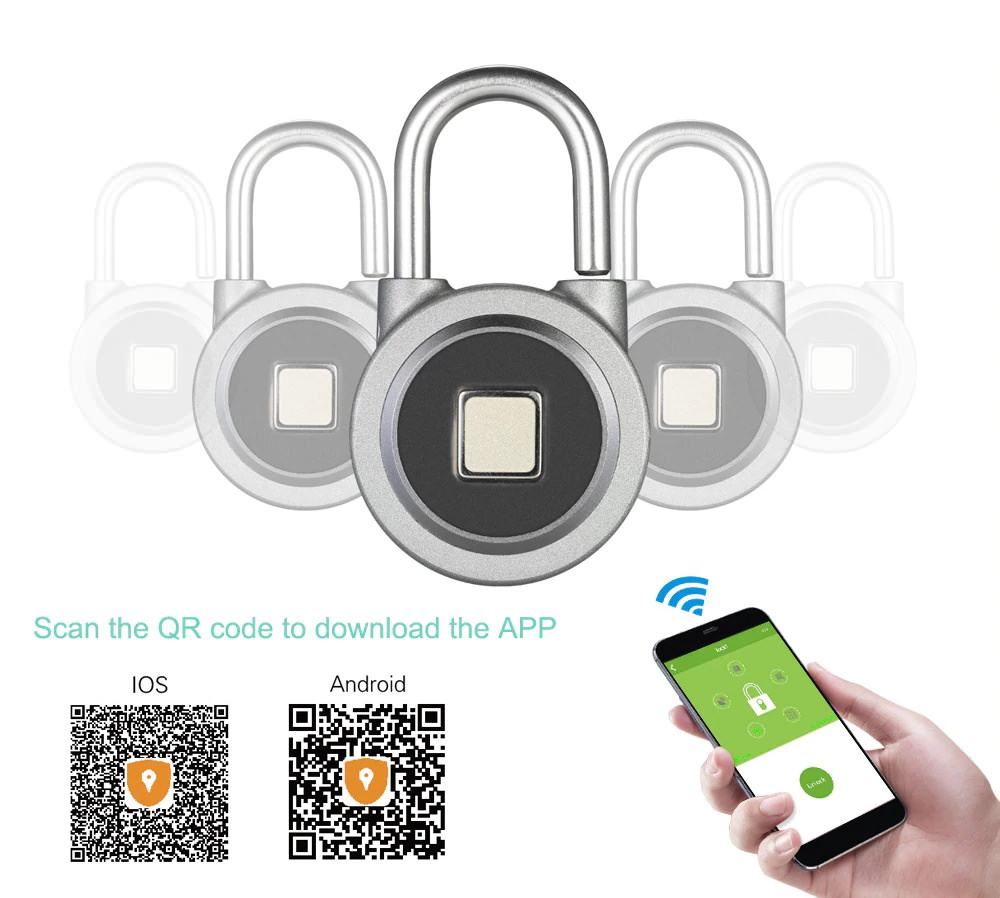 2019 fb50 smart fingerprint padlock