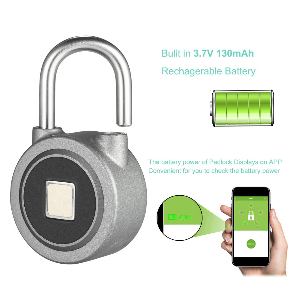 buy fb50 smart fingerprint padlock