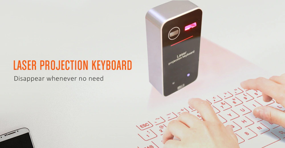 kb560S laser projection wireless keyboard