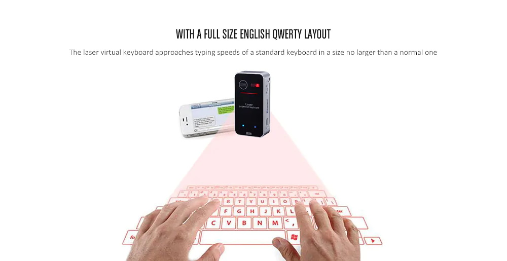 2019 kb560S laser projection wireless keyboard