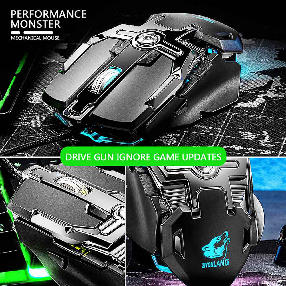 new v15 wired mechanic gaming mouse