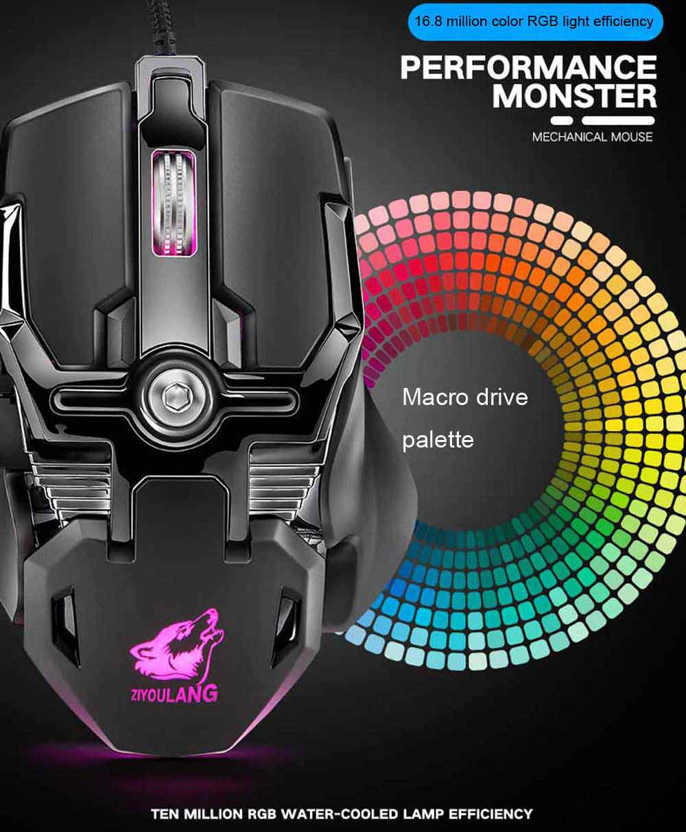 new v15 wired gaming mouse