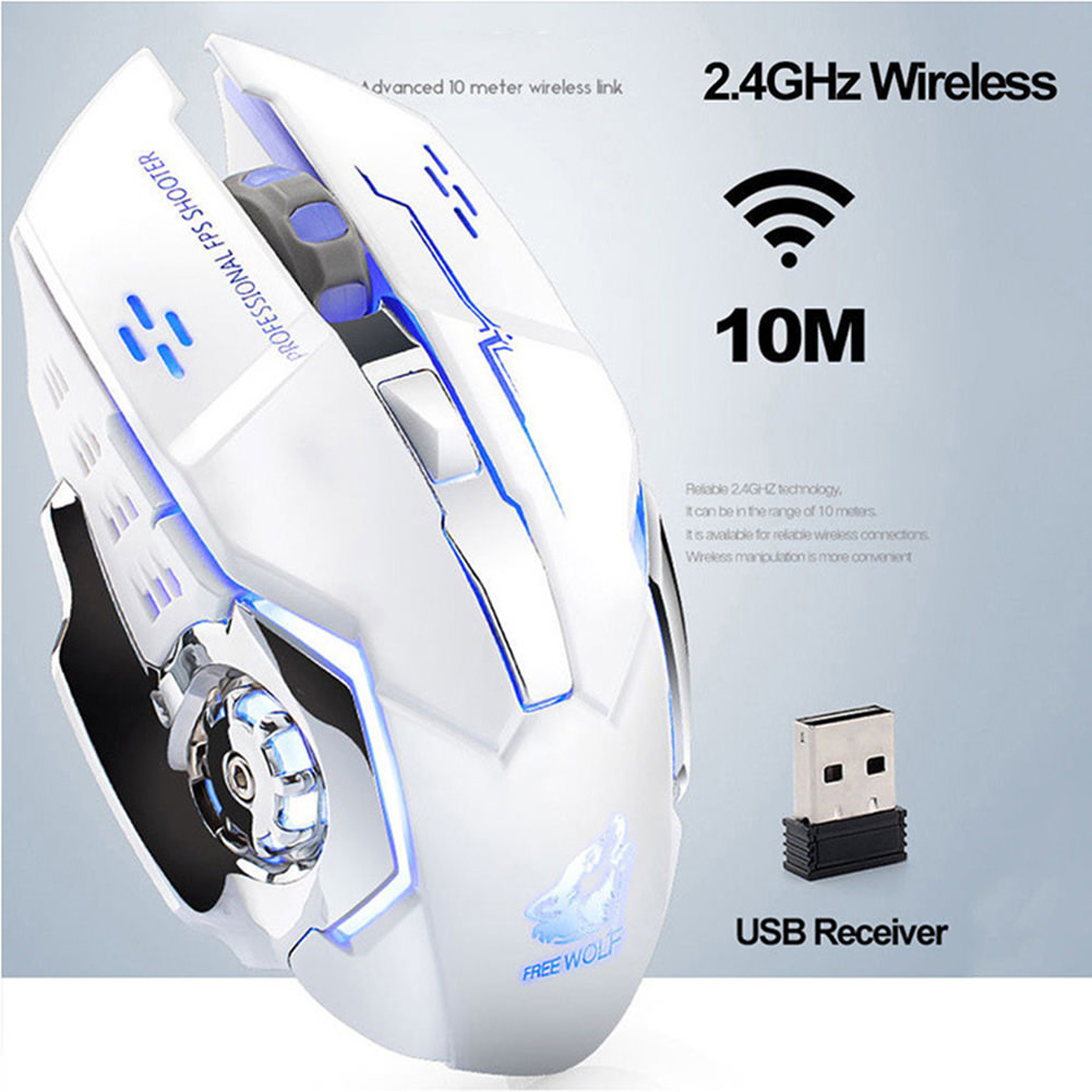 x8 wireless rechargeable game mouse