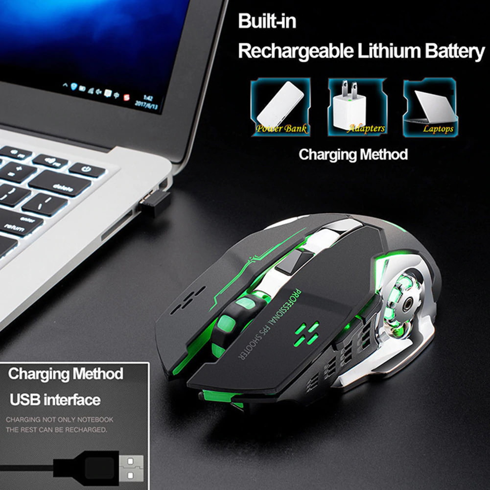 new x8 wireless rechargeable game mouse