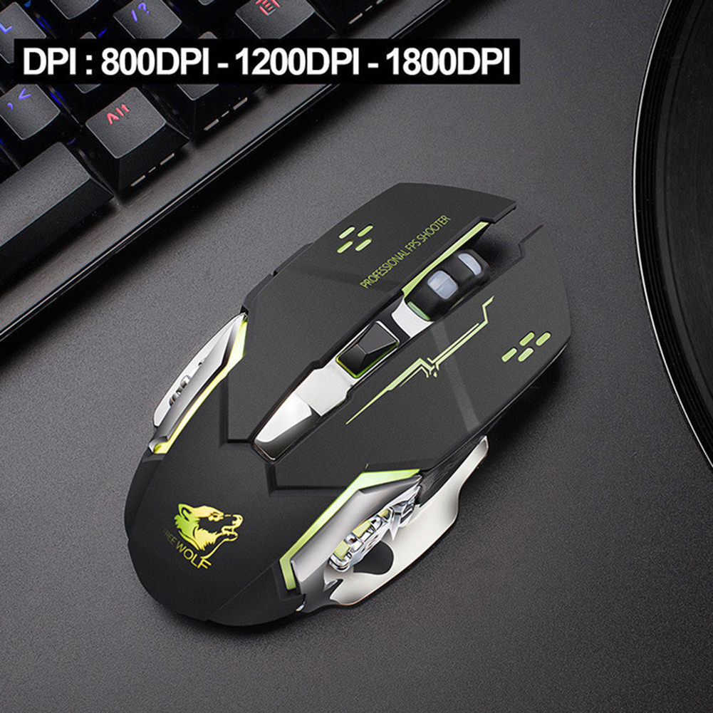 buy x8 wireless rechargeable game mouse