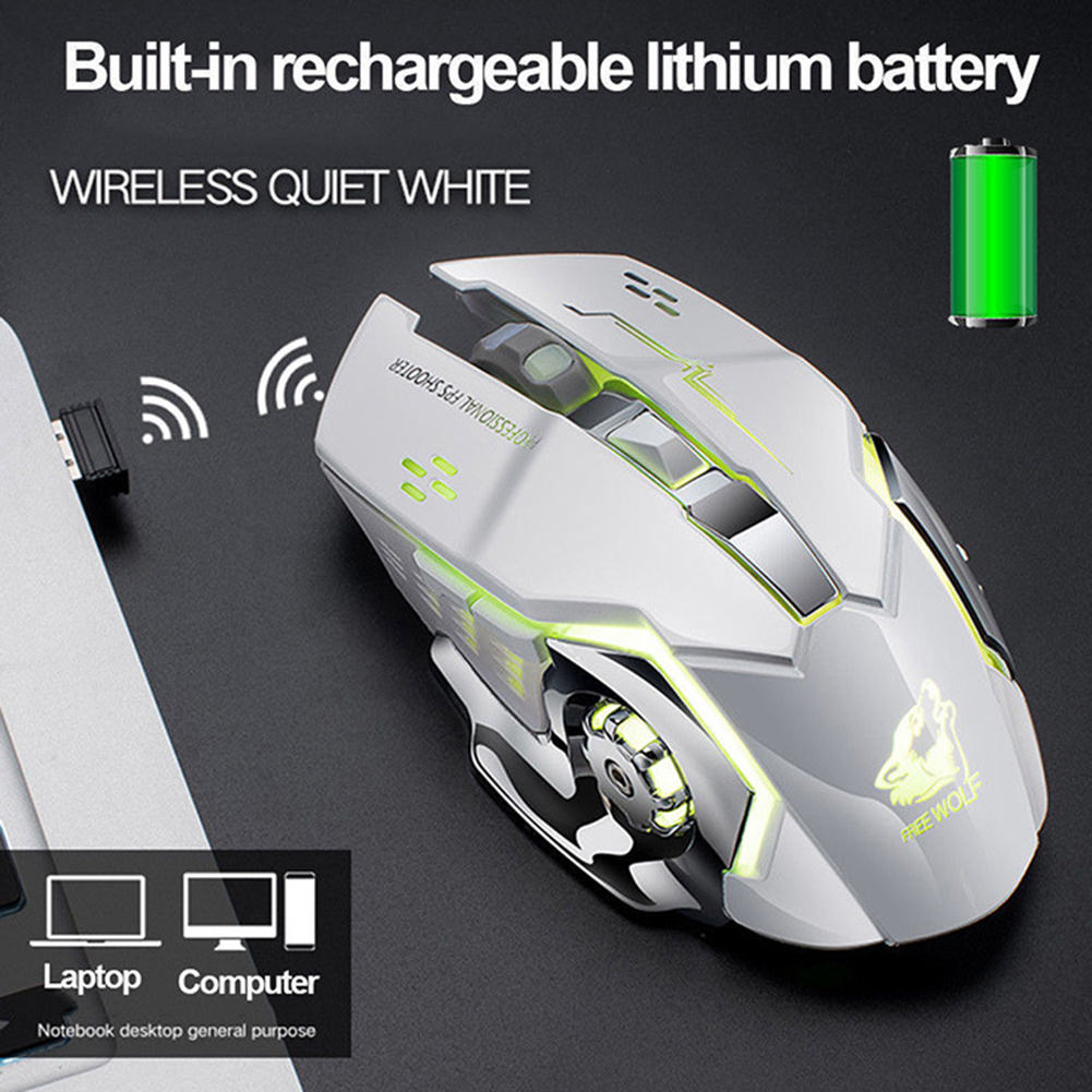 2019 x8 wireless rechargeable game mouse