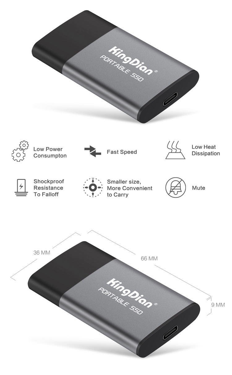 kingdian p10 external solid state drive for sale