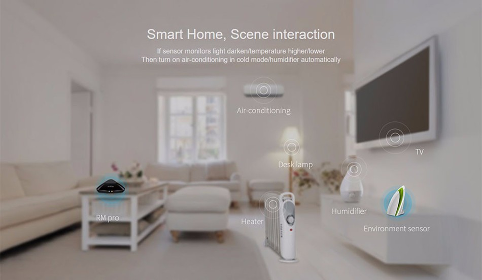 Broadlink RM PRO Remote Control Universal Smart Home Automation WIFI+IR+RF
