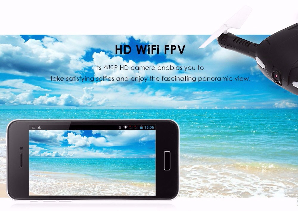 JJRC H37 Headless Drone Selfie Mini Folded FPV with WiFi 480P HD Camera