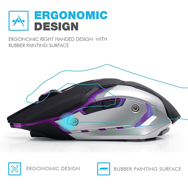 AZZOR 7-color Wireless Backlight Game Mouse
