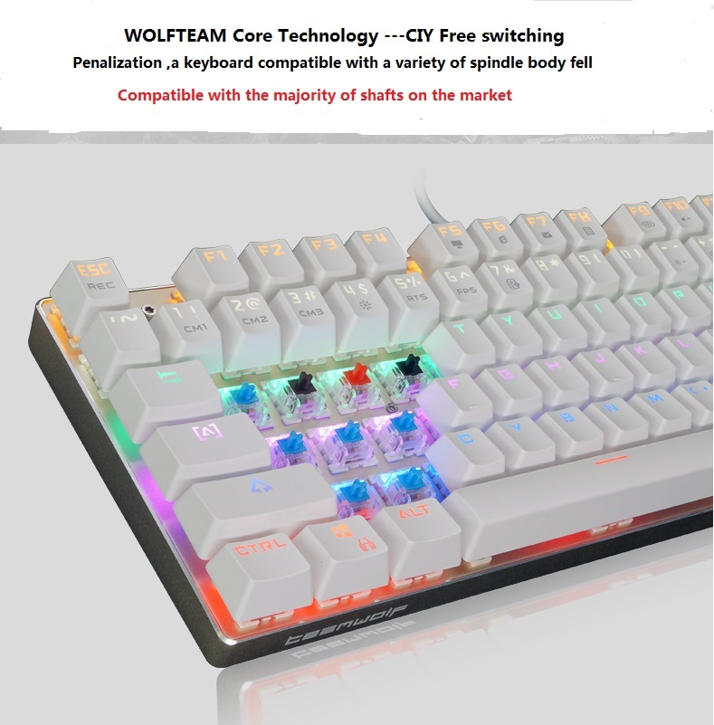 keyboard with backlight