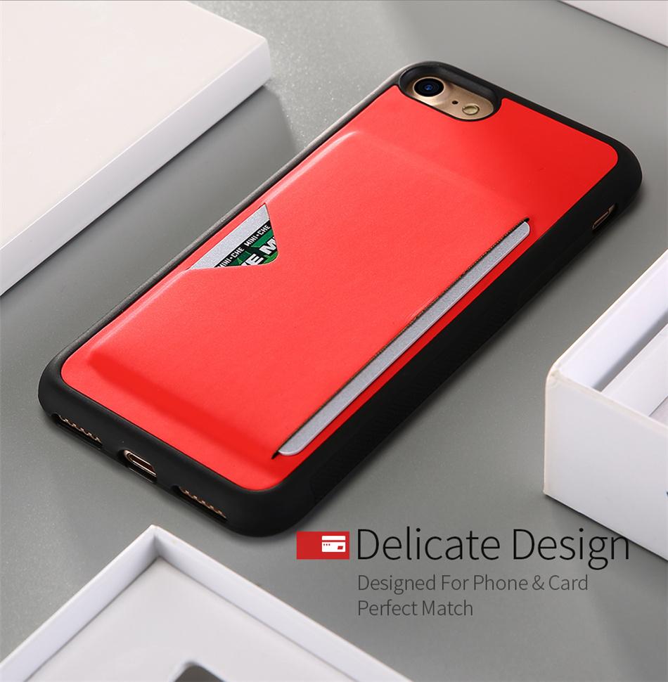 DUX DUCIS Luxury Leather Protective Case for iPhone 6/6 Plus/7/7 Plus/8/8 Plus