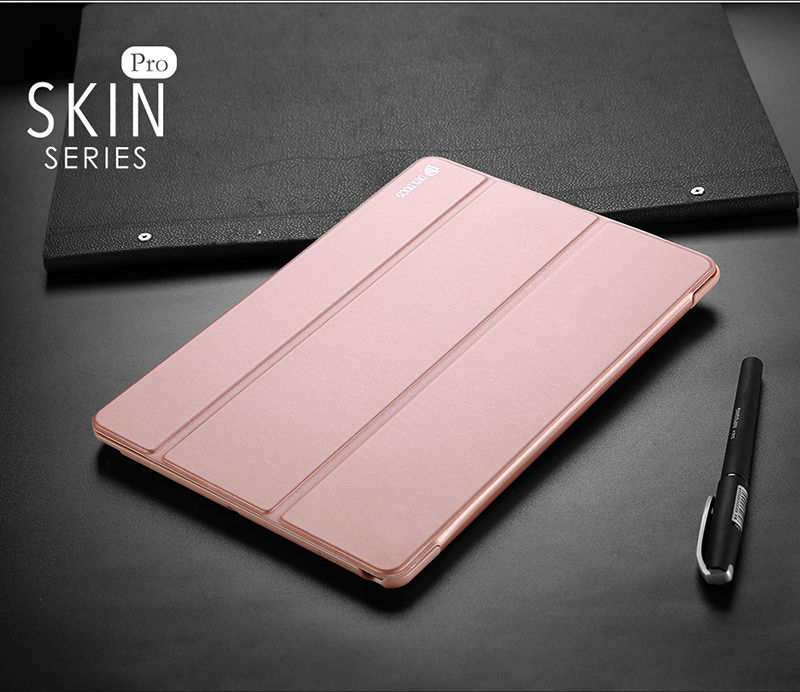 DUX DUCIS Auto-wake/sleep Tri-fold Leather Case for iPad Pro 10.5