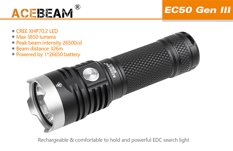 acebeam ec50 gen iii flashlight