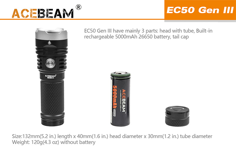 acebeam ec50 gen iii flashlight sale