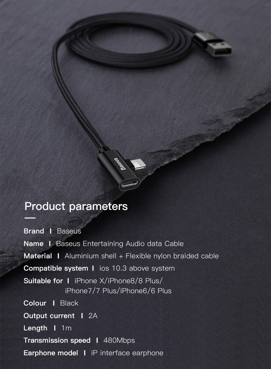buy baseus audio usb cable
