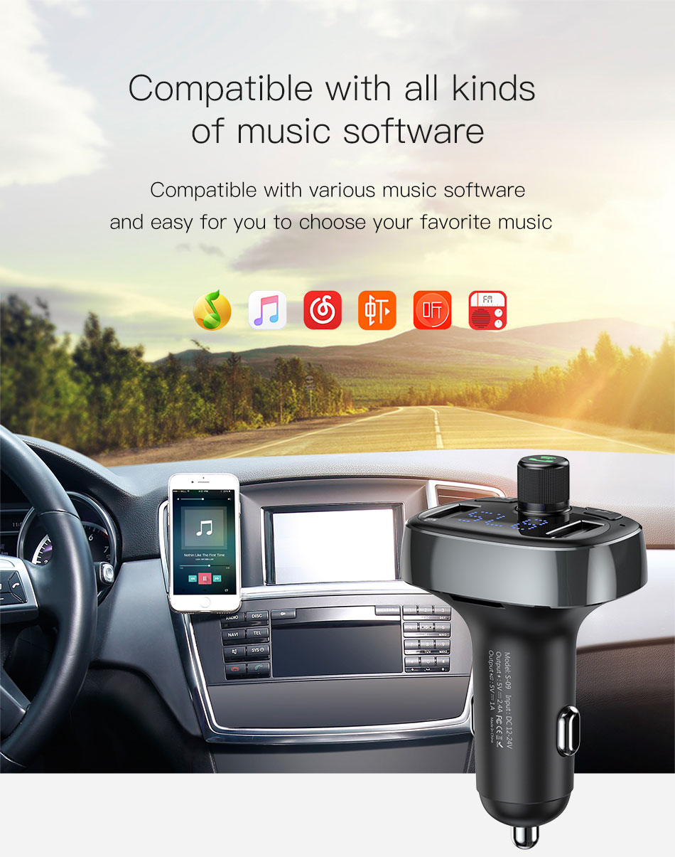 new baseus bluetooth car charger