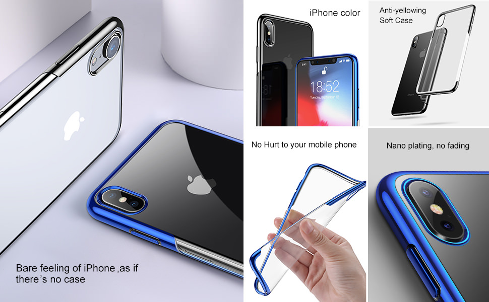 baseus plating case for iphone xs