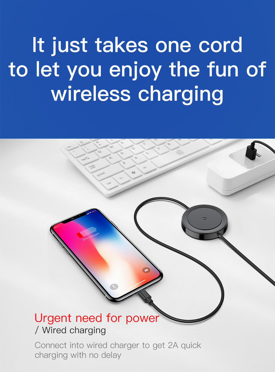 baseus usb wireless charger