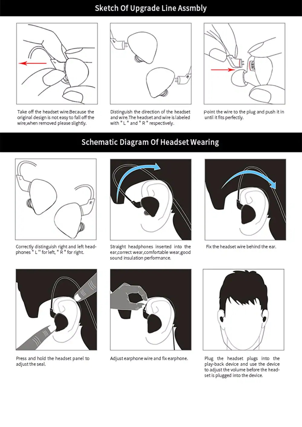 kz es4 earbuds black