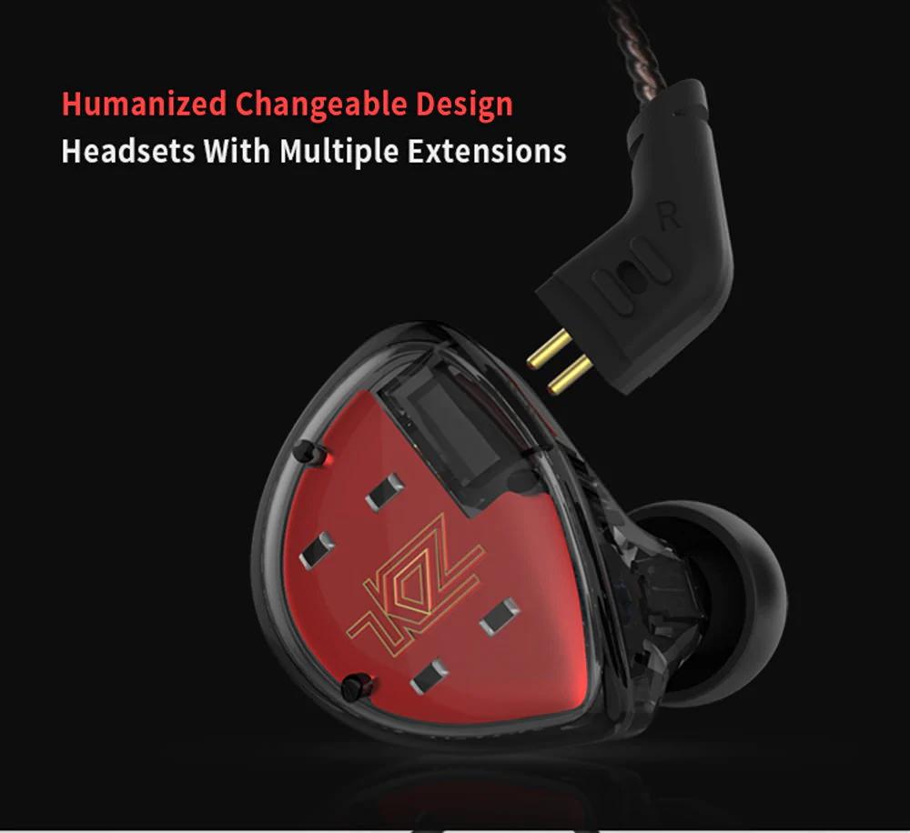 kz es4 hifi hybrid earphone
