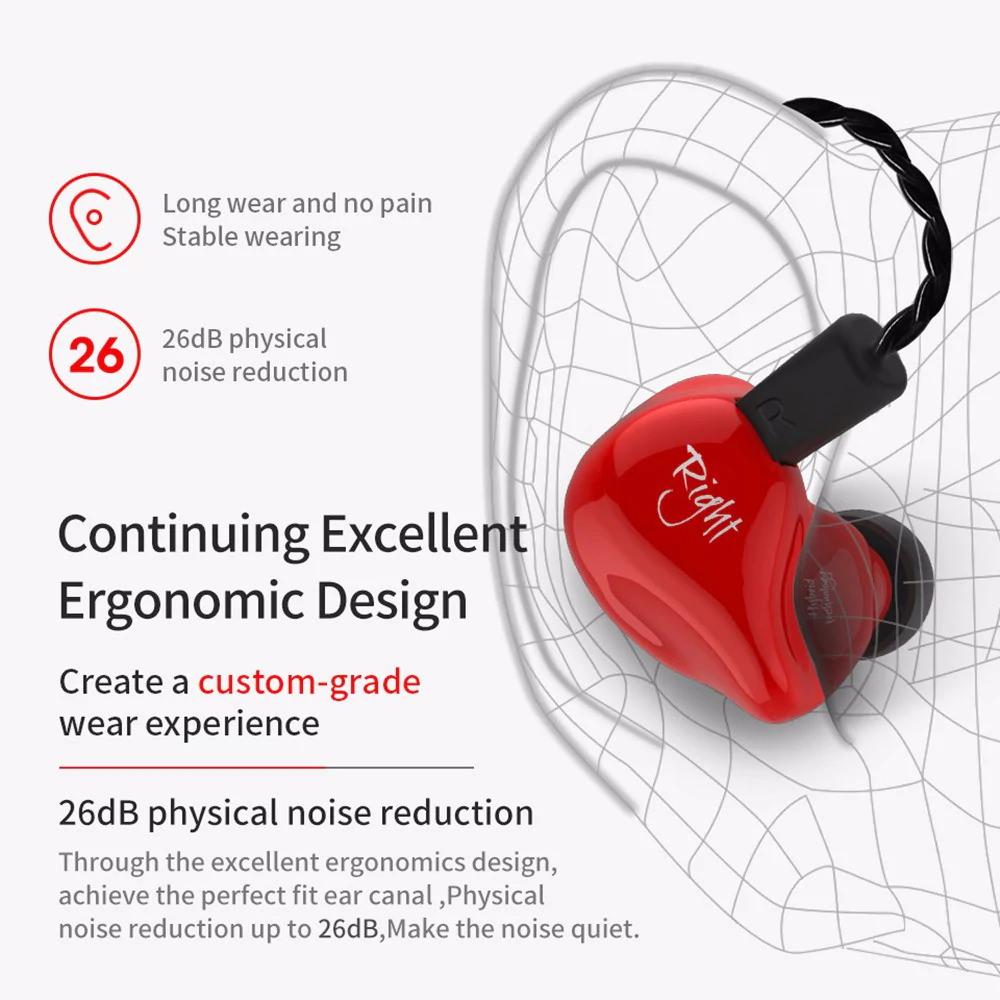 kz zs4 hifi hybrid earphone