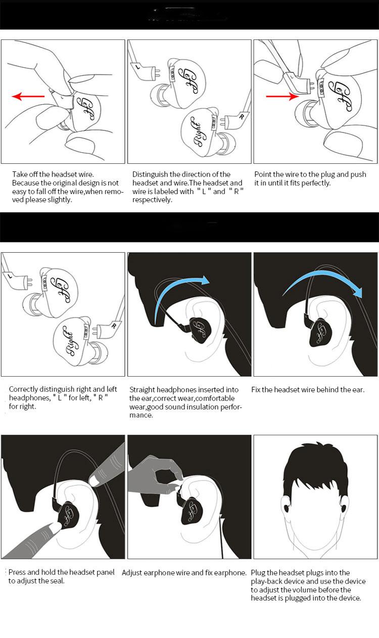 kz zsr in-ear headphones